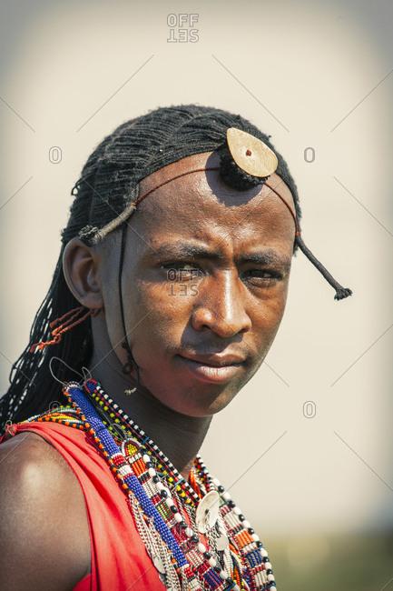 Black man wearing traditional clothing