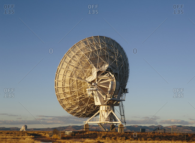 Large radio antennas used to search for extra-terrestrial intelligence (SETI)