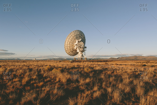 Large radio antennas, also know as The Very Large Array (VLA), used to search for extra-terrestrial intelligence (SETI)