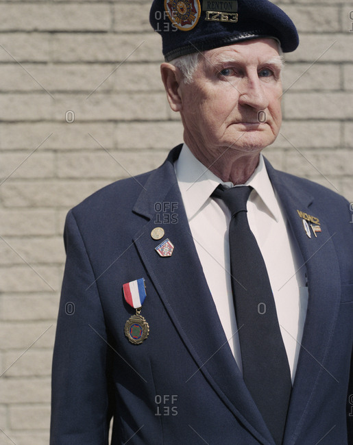 Portrait of elderly Korean War veteran