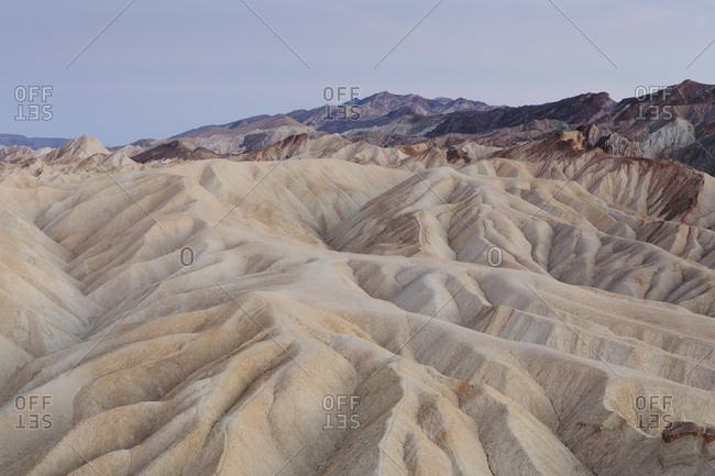Zabriskie Point at dawn, Death Valley National Park, USA.