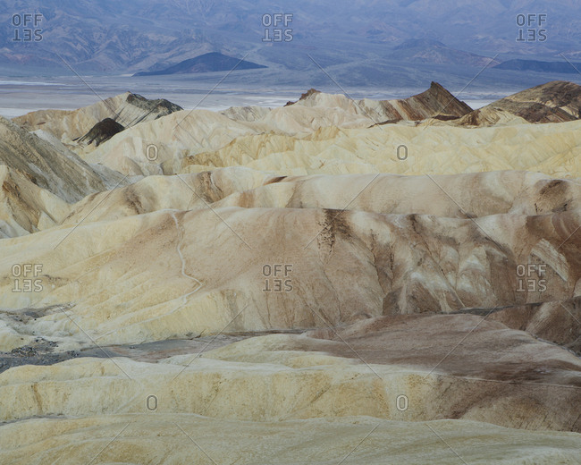 Zabriskie Point at dawn, Death Valley National Park, USA.