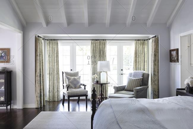 Los Angeles, California - June 19, 2015: Los Angeles home bedroom interior