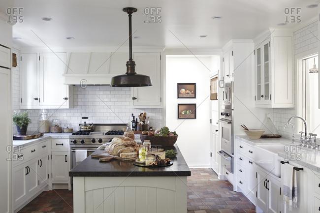 Los Angeles, California - June 19, 2015: Los Angeles home kitchen interior