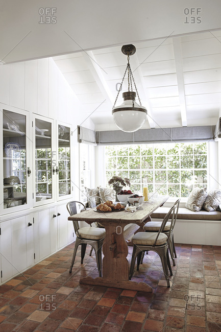 Dining room interior in a Los Angeles home