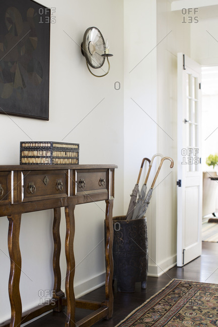 Los Angeles, California - August 5, 2014: Entryway in a Los Angeles home