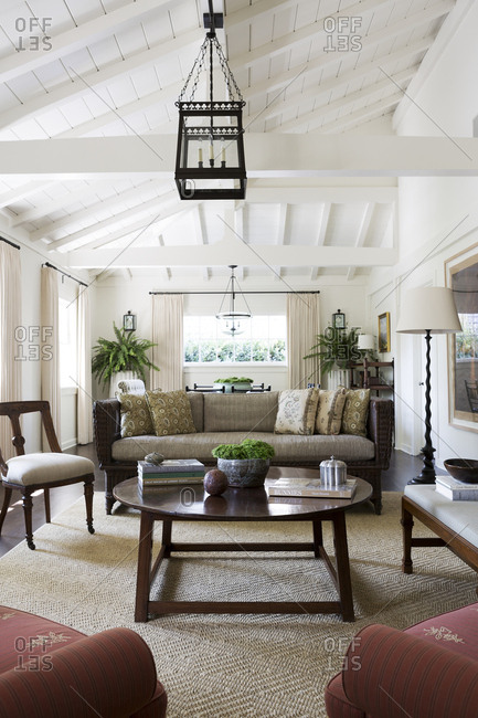 Los Angeles, California - August 5, 2014: Los Angeles home living room interior