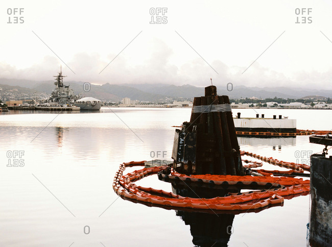 Pearl Harbor, Hawaii - March 1, 2017: Still waters in harbor