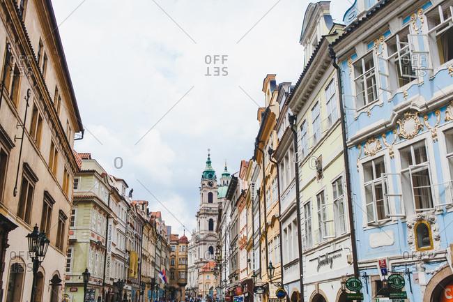 Prague, Czech Republic - July 24, 2016: View of a busy street