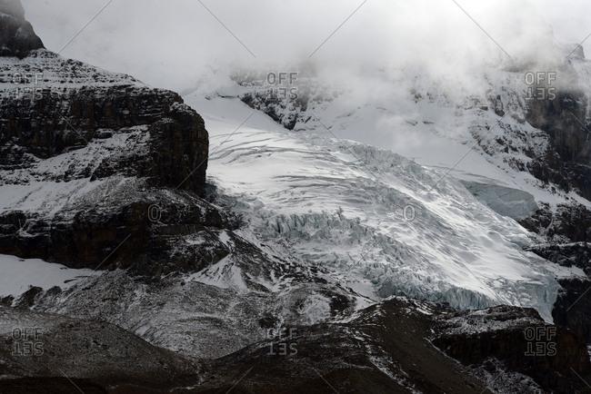 Snowy Landscape In Athabasca Glacier, Alberta, Canada.