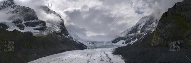 Athabasca Glacier in Alberta, Canada.
