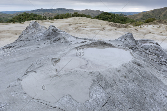The Berca mud volcanoes are formations made from erupting gas and mud.