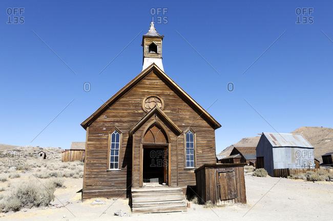 Bodie Catholic Church in California, USA.