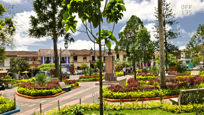 Colombia - October 2, 2016: The town of Filandia in Columbia.