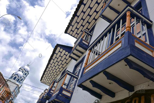Residential district in Filandia, Columbia.