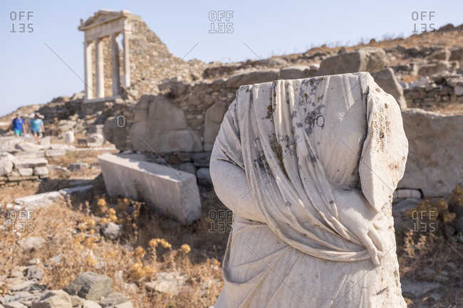 Ruins of the Sanctuary of the Egyptian Gods at the archaeological site of Delos.