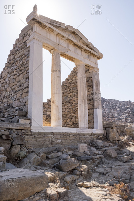 The Temple of Isis at the archaeological site of Delos.