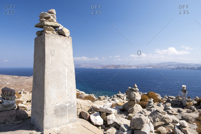 Sanctuary of Zeus and Athena at the archaeological site of Delos.