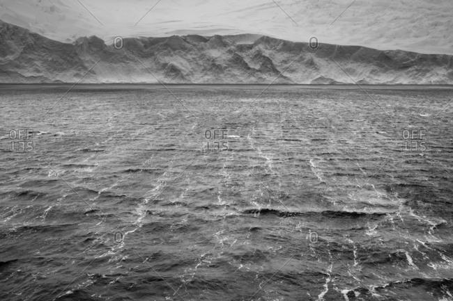 Wind blowing on the sea, Herrera Channel, Antarctica.