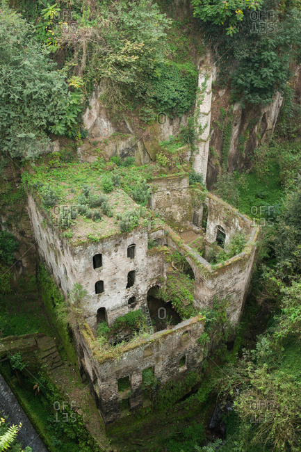 Abandoned flour mill in The valley of the mills, Sorrento, Italy