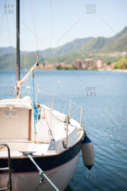 Sailboat in lake Orta, Italy