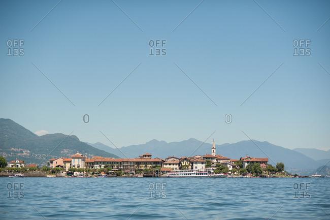 Lakeside town of Stresa, Italy on lake Maggiore
