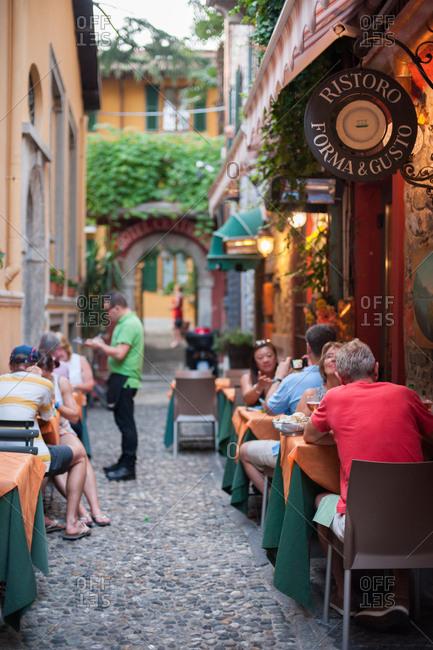 Bellagio, Lombardy, Italy - July 20, 2016: Italy, Italian lakes, lake Como