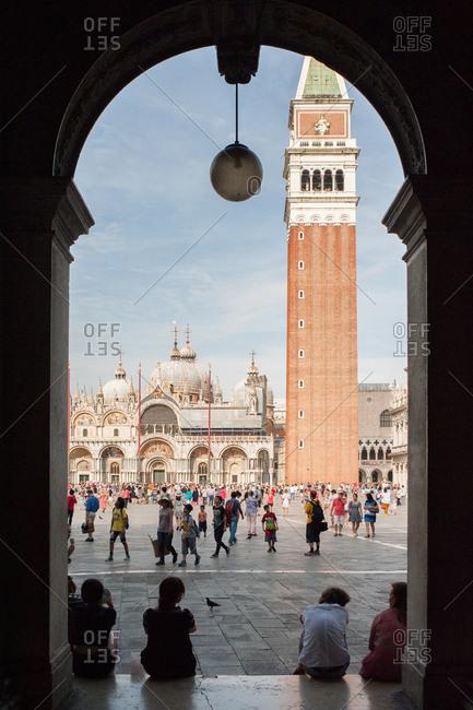 Venice, Italy - July 22, 2015: St Mark's Square, Venice