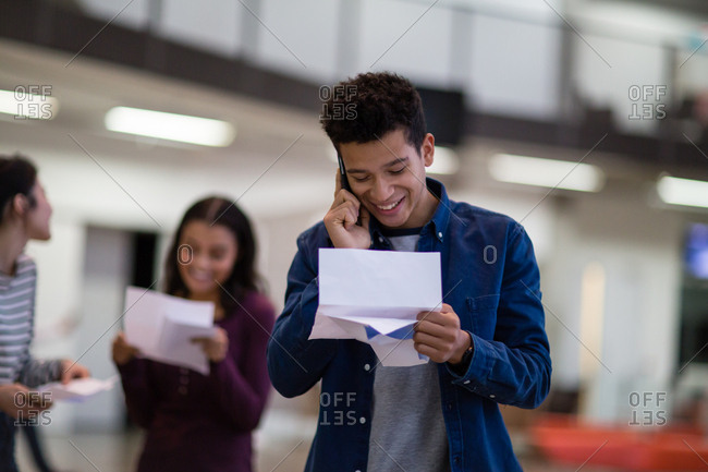 Student calling about exam results