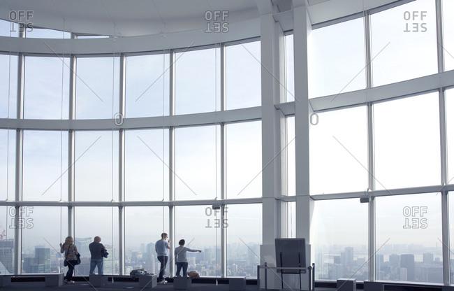November 23, 2015 - Tokyo, Japan: People at Mori Tower observation floor
