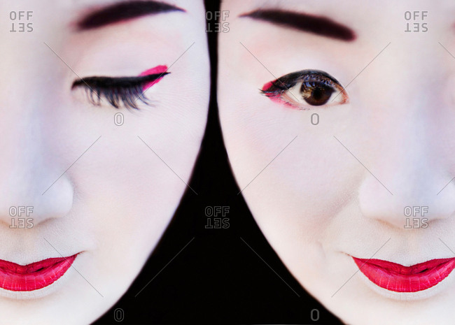 March 6, 2017 - Kyoto, Japan: Close-up portrait of two geisha