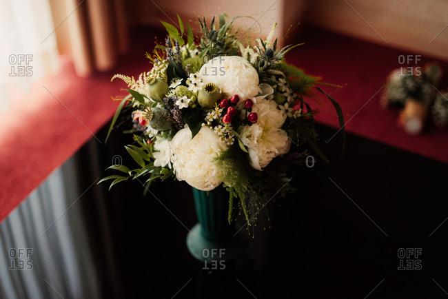 Flower arrangement with peonies
