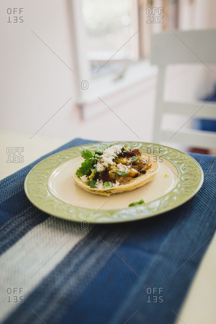 Home made breakfast taco
