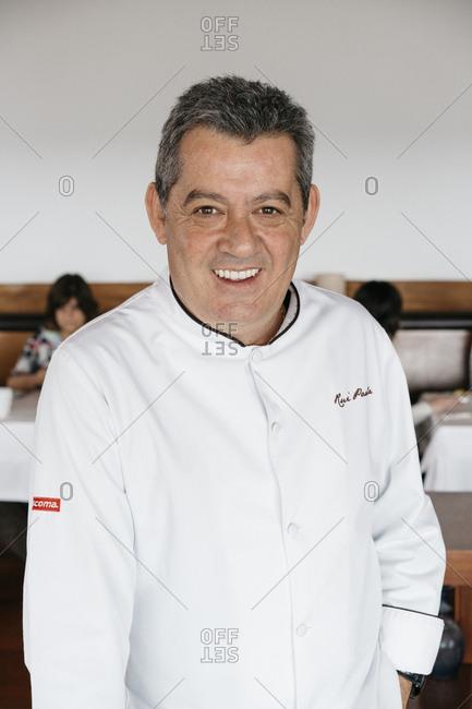 Porto, Portugal - March 3, 2017: Portrait of Portuguese chef Rue Paula