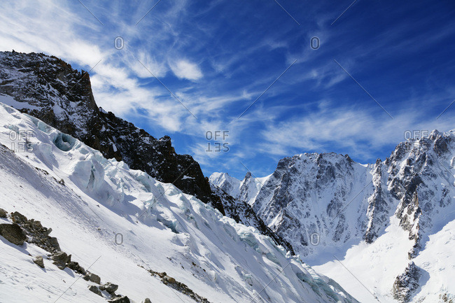 Argentiere Glacier, Chamonix, Rhone Alpes, Haute Savoie, French Alps, France, Europe