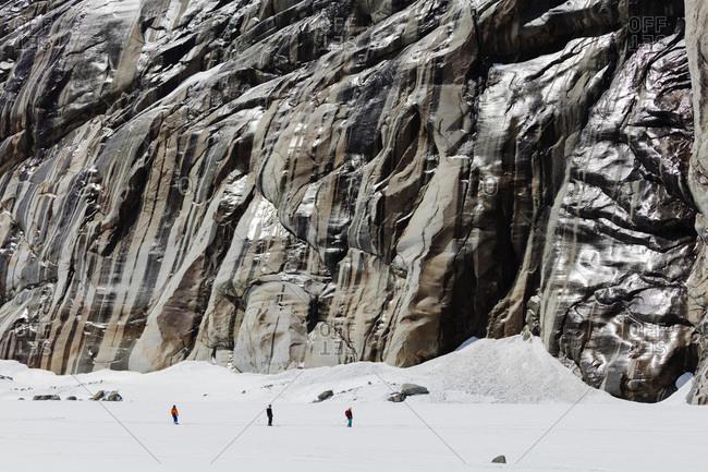 Vallee Blanche off piste ski tour, Chamonix, Rhone Alpes, Haute Savoie, French Alps, France, Europe