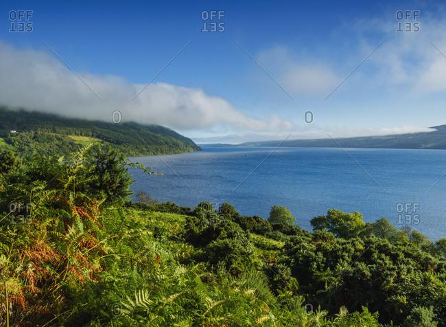 Landscape of Loch Ness, Drumnadrochit, Highlands, Scotland, United Kingdom, Europe