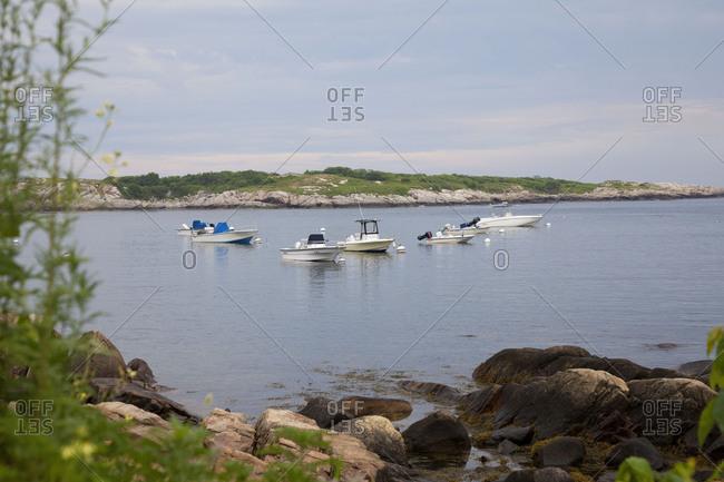Gloucester, Massachussets - July 18, 2011: Boats off the coast