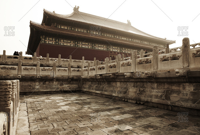 Beijing, China - October 5, 2010: The Forbidden City in Beijing, China