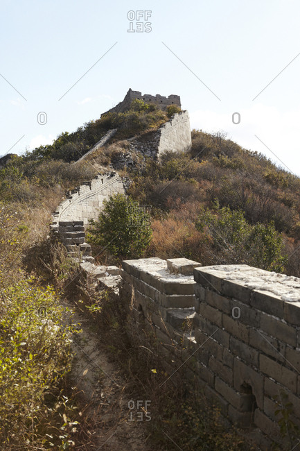 Overgrown vegetation along The Great Wall of China