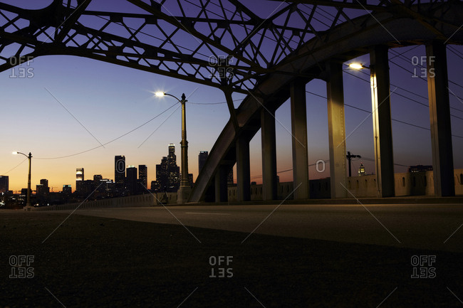 Los Angeles, California - February 26, 2013: View of the Sixth street bridge in Downtown Los Angeles, California