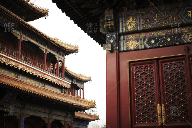 Exterior of the Yonghegong Temple, Beijing, China