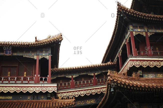 Exterior of the Yonghegong Lamasery, Beijing, China