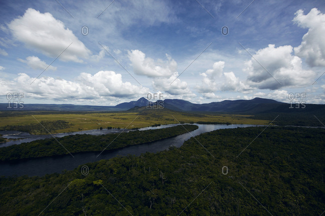 Carrao River in Canaima National Park in Venezuela