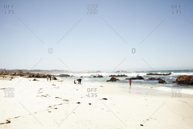 Monterey Peninsula, California - May 27, 2014: Beach on the Pacific coast in Monterey Peninsula, California