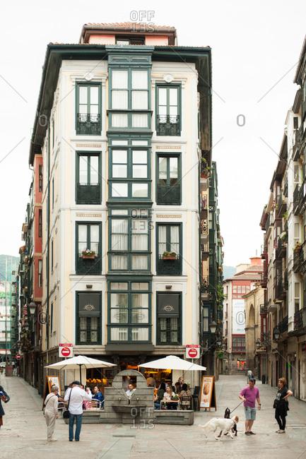 Bilbao, Spain - June 11, 2016: Casco Viejo, Bilbao, Spain