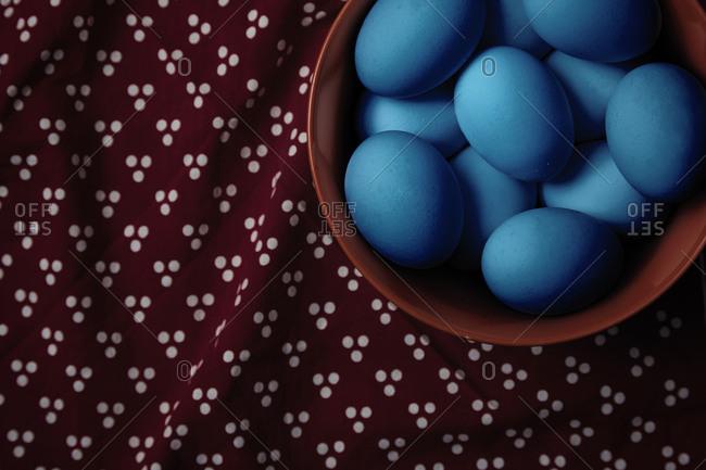 Bowl full of Easter eggs