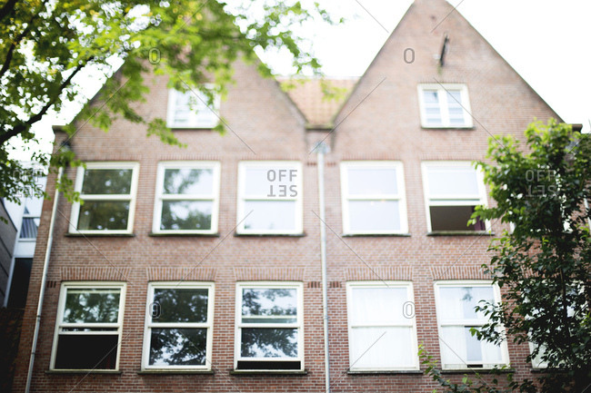 A brick fa�ade home in Amsterdam