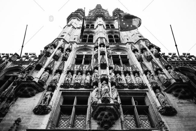 Town Hall building in Brussels, Belgium