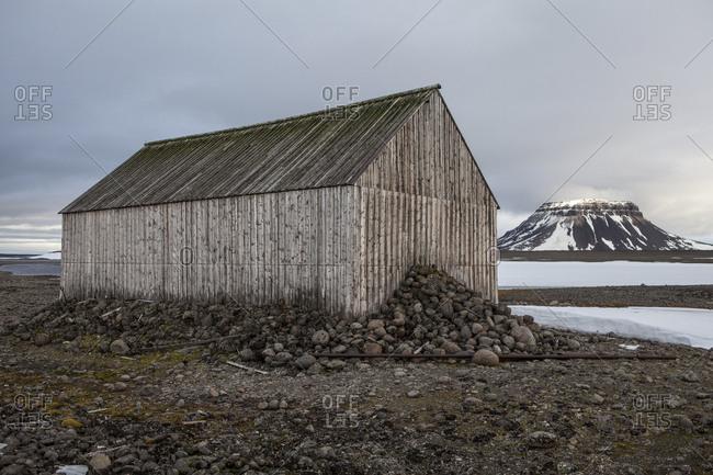 Wooden shed in Franz Josef Land